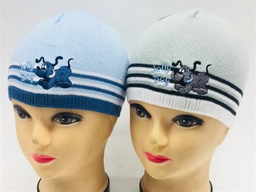 amal шапка одинарная вязка (собака)(р.48-50) - фото 8267