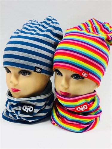 TuTu модель 5-000121 шапка двойн.трикотаж + снуд (р.52-54) - фото 8380