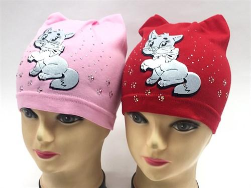 шапка одинарный трикотаж (котенок)(р.48-50) - фото 8629
