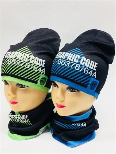 Milli комплект 18-203k шапка одинарный трикотаж + снуд (р.52-54) - фото 8684