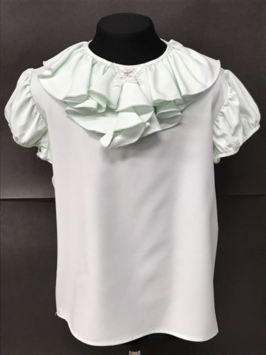 AGATKA блузка кор.рук. бабочка на вороте, мята (р.128-158) 6 шт. - фото 8986
