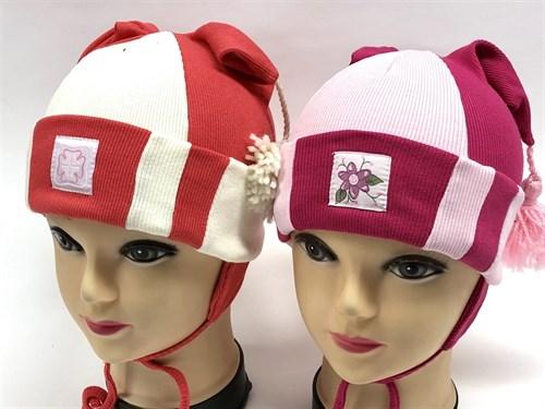Boys Girls шапка одинарный трикотаж (кисточки)(р.46-48) - фото 9209