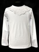 блузка ЛЮТИК модель 10101 трикотажная, белая (р.122,128,134,140,146)