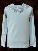 блузка ЛЮТИК модель 10101 трикотажная, голубая (р.122,128,134,140,146)
