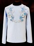 блузка ЛЮТИК модель 10102 трикотажная, голубая (р.122,128,134,140,146)