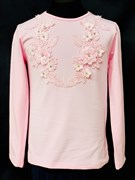 блузка ЛЮТИК модель 10102 трикотажная, розовая (р.122,128,134,140,146)
