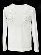 блузка ЛЮТИК модель 10102 трикотажная, белая (р.122,128,134,140,146)