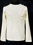 блузка ЛЮТИК модель 10102 трикотажная, кремовая (р.122,128,134,140,146)
