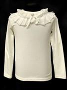 блузка ЛЮТИК модель 10103 трикотажная, кремовая (р.122,128,134,140,146)
