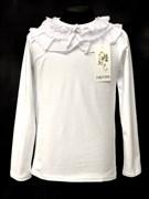 блузка ЛЮТИК модель 10103 трикотажная, белая (р.122,128,134,140,146)