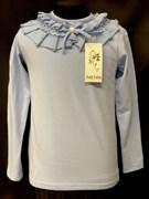 блузка ЛЮТИК модель 10103 трикотажная, голубая (р.122,128,134,140,146)