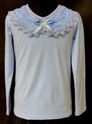 блузка ЛЮТИК модель 10104 трикотажная, голубая (р.122,128,134,140,146)