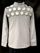 блузка ЛЮТИК модель 10106 трикотажная, серая (р.122,128,134,140,146)