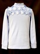блузка ЛЮТИК модель 10106 трикотажная, голубая (р.122,128,134,140,146)