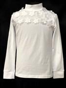 блузка ЛЮТИК модель 10106 трикотажная, белая (р.122,128,134,140,146)