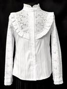 блузка ЛЮТИК модель 20133 Х/Б длин.рукав хлопок (рост128,134,140,146,152)