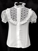 блузка ЛЮТИК модель 20133 капрон кор.рукав (рост128,134,140,146,152)