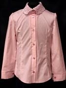 блузка ЛЮТИК модель 20188 длин.рукав, розовая (рост128,134,140,146,152)