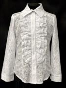 блузка ЛЮТИК модель 20143 длин.рукав узоры (рост128,134,140,146,152)