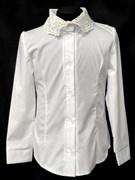 блузка ЛЮТИК модель 20188 длин.рукав, крем (рост128,134,140,146,152)