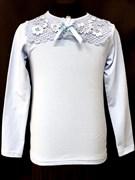 блузка ЛЮТИК модель 10105 трикотажная, голубая (р.122,128,134,140,146)