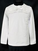 блузка ЛЮТИК модель 10105 трикотажная, белая (р.122,128,134,140,146)