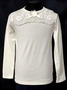 блузка ЛЮТИК модель 10105 трикотажная, кремовая (р.122,128,134,140,146)
