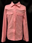 блузка ЛЮТИК модель 20149 розовая длинный рукав карманы (рост146,152,158,164,170)
