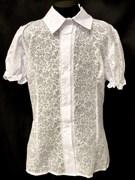 блузка ЛЮТИК модель 20131 подросток кор.рукав-фонарик (размер36,38,40,42,44)