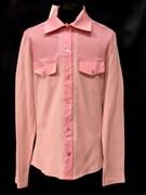 блузка ЛЮТИК модель 20156 розовая длинный рукав карманы (рост146,152,158,164,170)