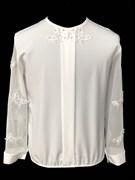AGATKA блузка длин.рук. рукава-бабочки, белая (р.128-158) 6 шт.