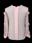 AGATKA блузка длин.рук. рукава-бантики, розовая (р.128-158) 6 шт.