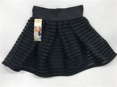 юбка Balbina модель полоска с сеткой, черная (р.128-158)