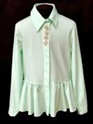 AGATKA блузка дл.рук. туника мятная (р.140-164)