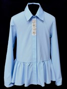 AGATKA блузка дл.рук. туника голубая (р.140-164)