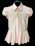 AGATKA блузка короткий рукав, туника розовая (р.140-164)
