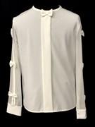 AGATKA блузка длин.рук. рукава-бантики, кремовая (р.128-158) 6 шт.