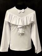 AGATKA блузка дл.рук. оборка-бантик, белая (р128-158)