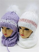 AGBO комплект 1800 JADWIGA шапка подкл.флис+снуд (р.50-52)