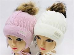Barbaras модель AO 943/0E ISOSOFT шапка с нат.помпоном (р.50-52)
