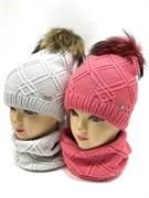 Barbaras модель AO 153/0A шапка двойн.вязка +снуд (р52-54)