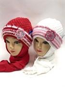 GRANS комплект A201 шапка двойная вязка+шарф (р.48-50)