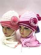 GRANS комплект A395 шапка двойная вязка+шарф (р.46-48)