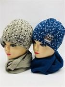 AGBO комплект Kpl4 шапка двойная вязка+шарф (р.52-54)