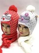 ambra комплект amb11 шапка подкл.флис+шарф (р.50-52)