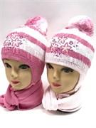 TOMAR комплект шапка одинран.вязк.+шарф (р.48-50)