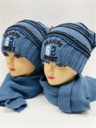 Politano комплект шапка двойн.вязк.+шарф (р.52-54)
