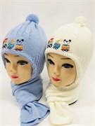 Acer комплект шапка двойн.вязк.+шарф (р.48-50)