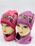 Milli комплект 18-608k шапка одинарный трикотаж + снуд (р.52-54)