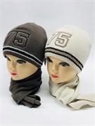 AGBO комплект kpl7 шапка двойн.вязка+шарф (р.50-54)